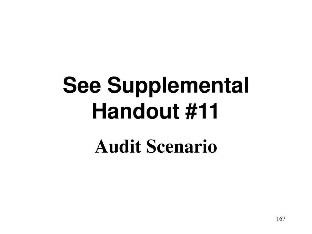 See Supplemental Handout #11