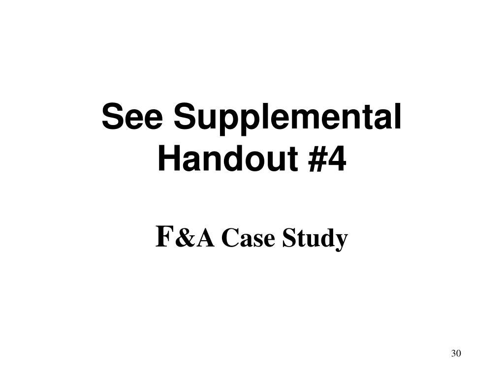 See Supplemental Handout #4