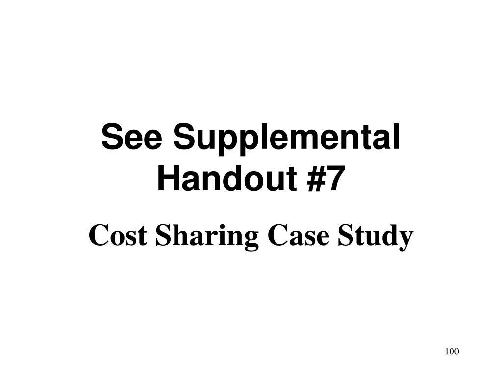 See Supplemental Handout #7