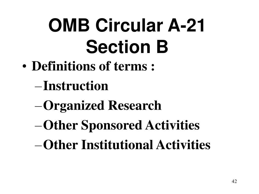 OMB Circular A-21