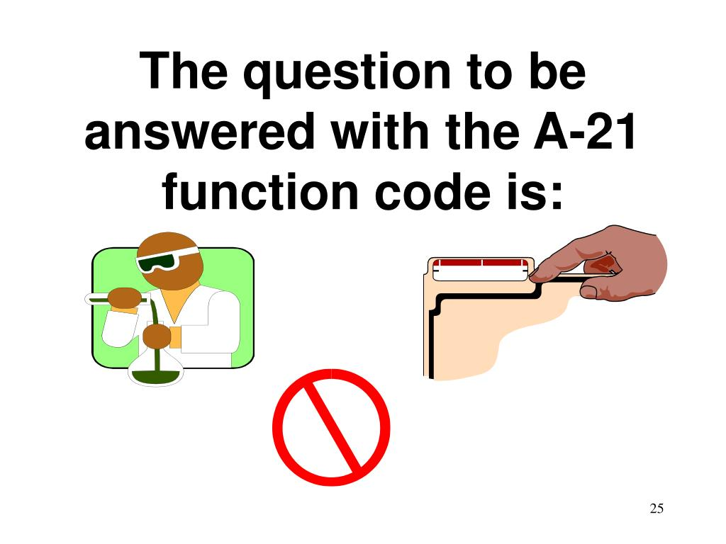 The question to be answered with the A-21 function code is: