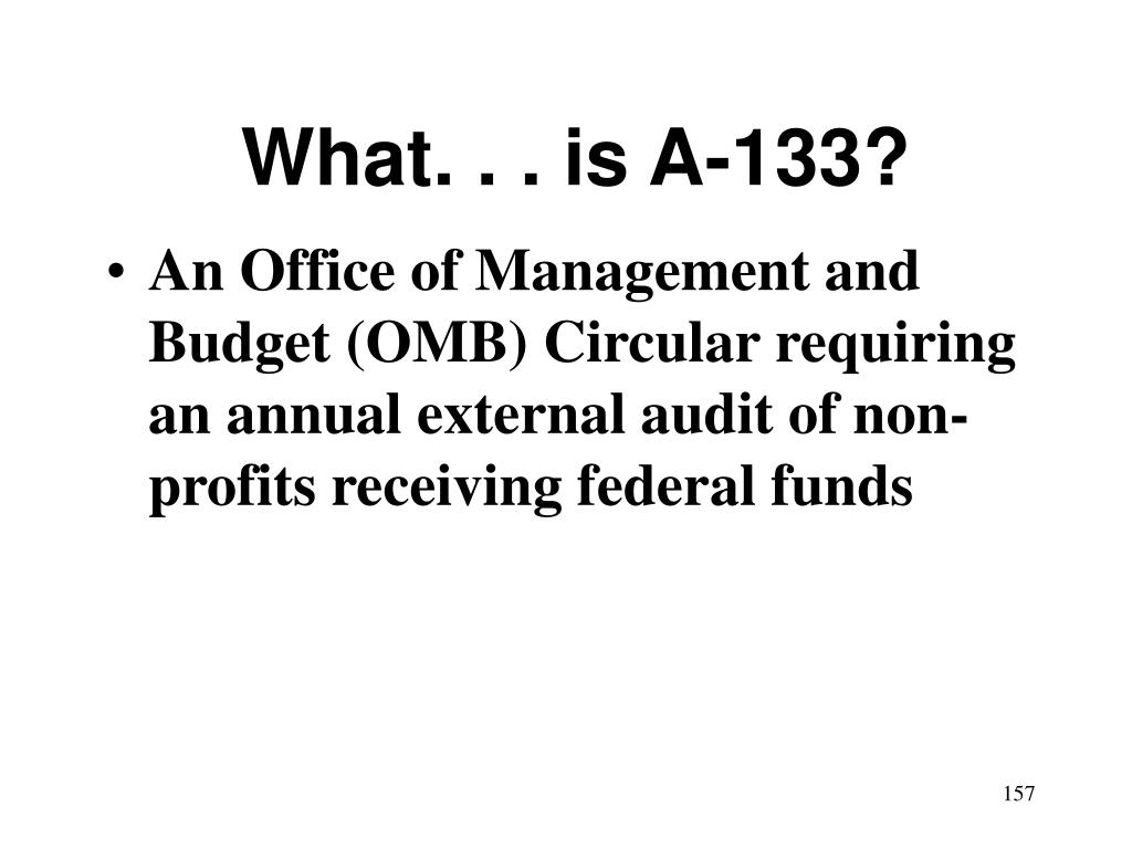 What. . . is A-133?