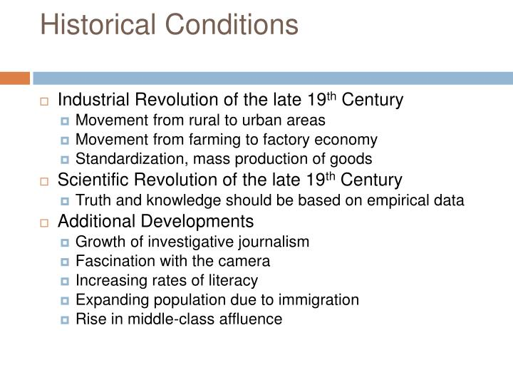 Historical Conditions