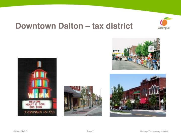 Downtown Dalton – tax district