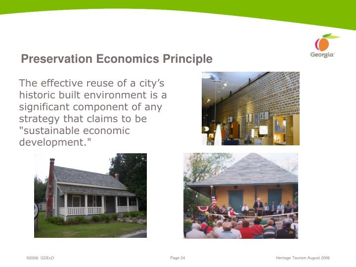 Preservation Economics Principle