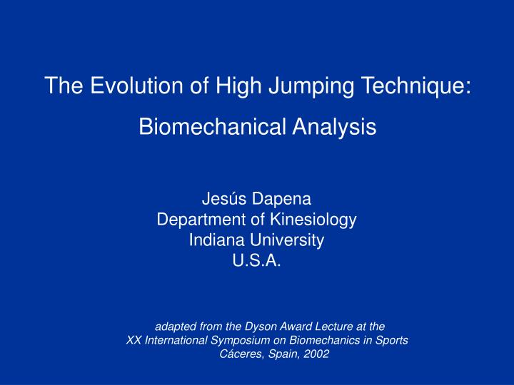 The Evolution of High Jumping Technique: