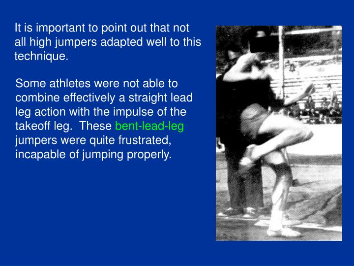Some athletes were not able to