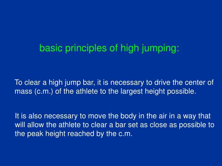 basic principles of high jumping: