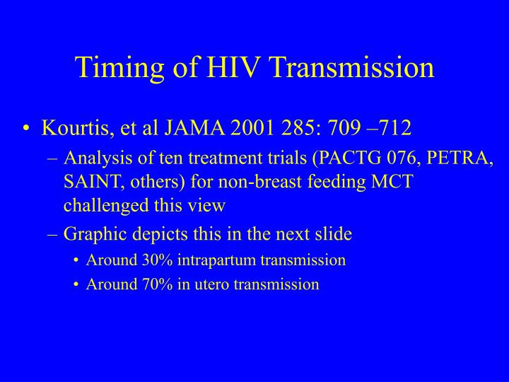 Timing of HIV Transmission