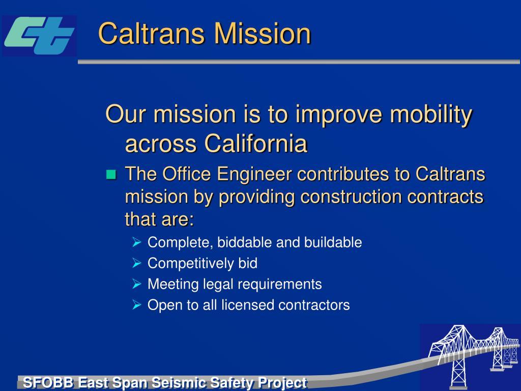 Caltrans Mission