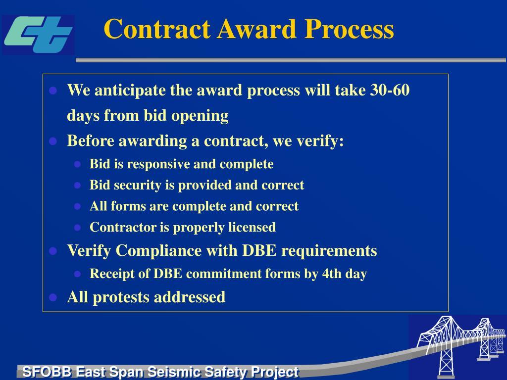 Contract Award Process