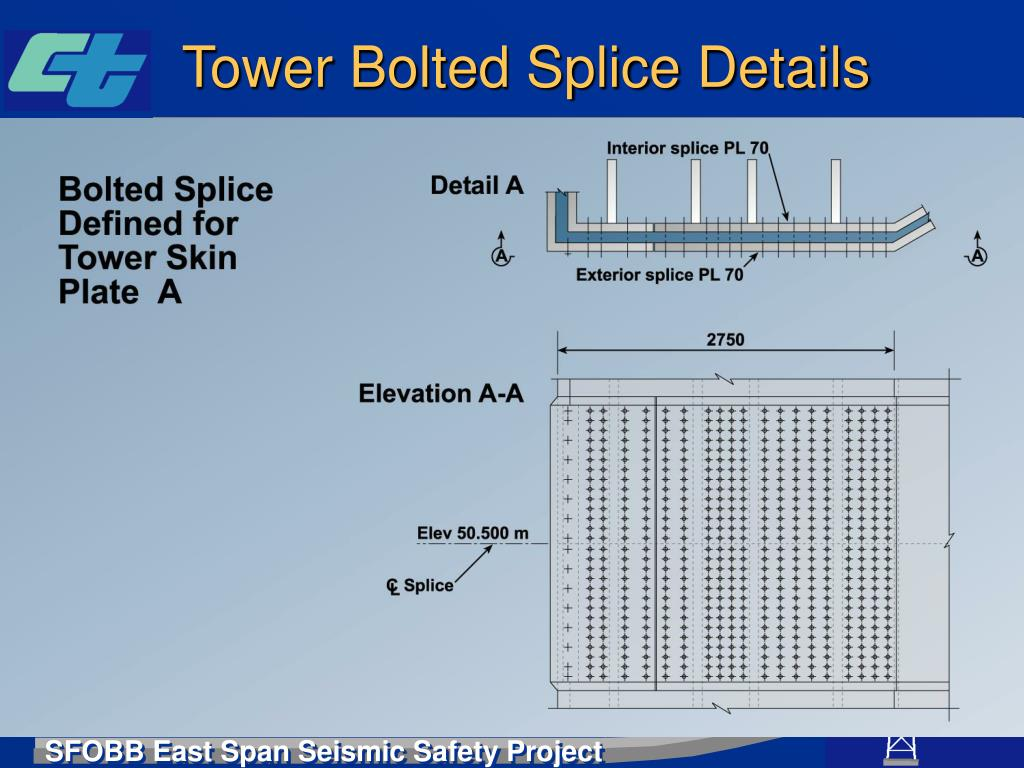 Tower Bolted Splice Details