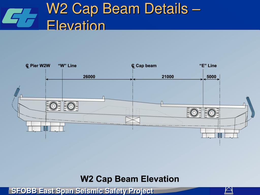 W2 Cap Beam Details – Elevation