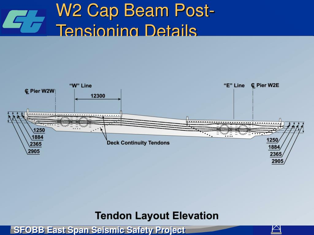 W2 Cap Beam Post-Tensioning Details