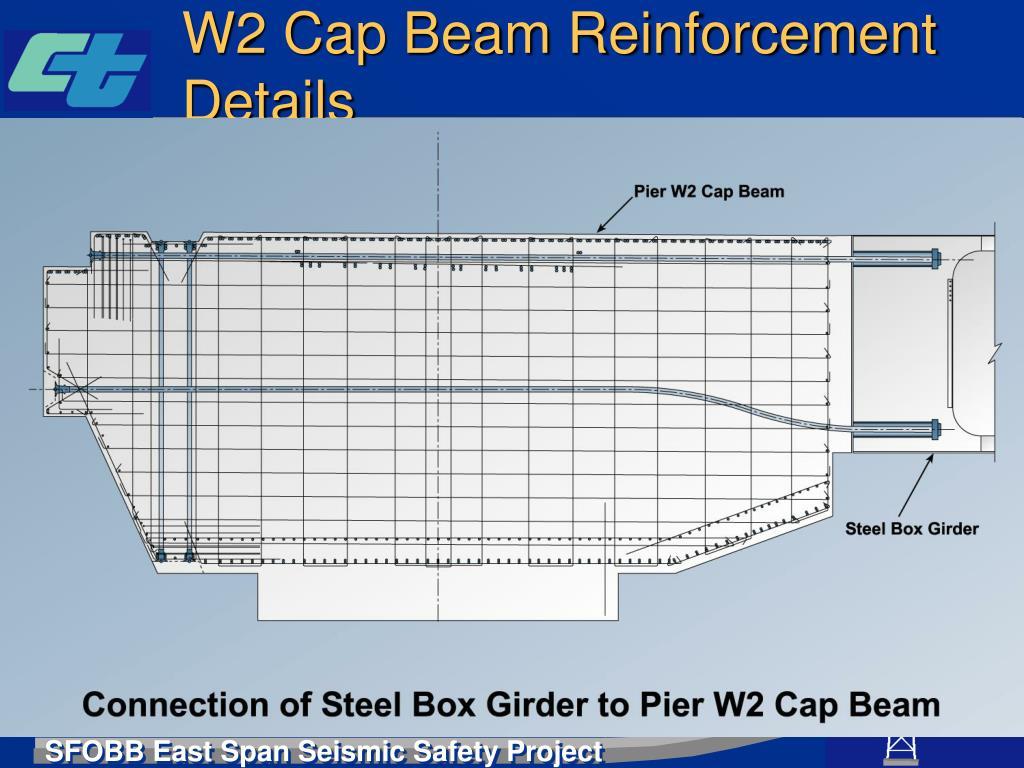 W2 Cap Beam Reinforcement Details