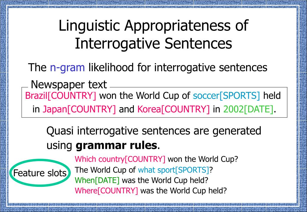Linguistic Appropriateness of Interrogative Sentences