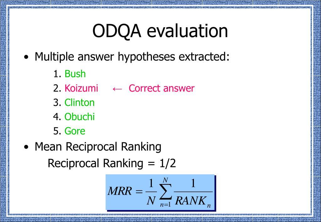 ODQA evaluation
