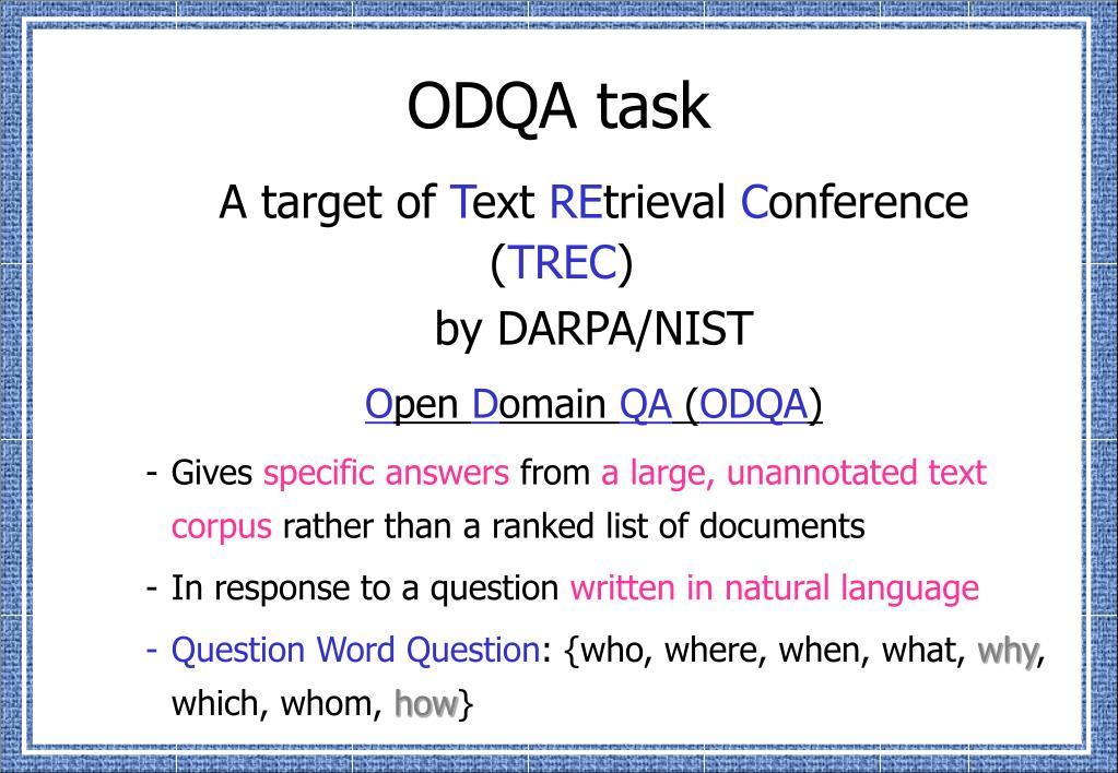 ODQA task