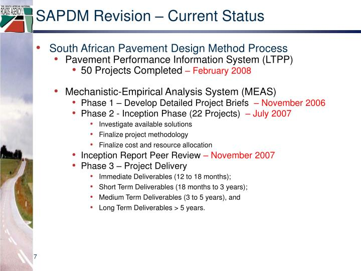 SAPDM Revision – Current Status