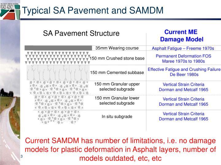 Typical SA Pavement and SAMDM