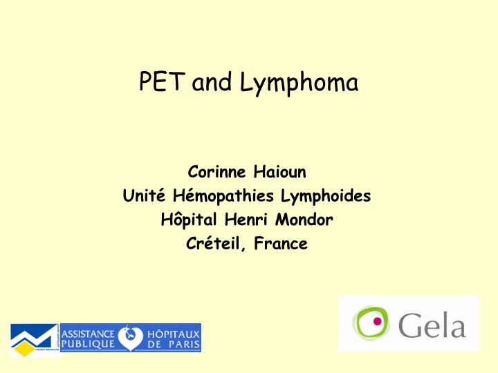 Pet and lymphoma