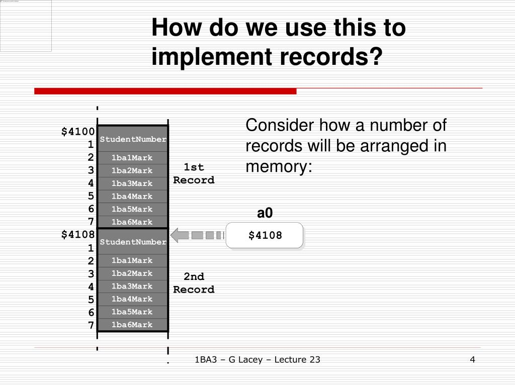 How do we use this to implement records?