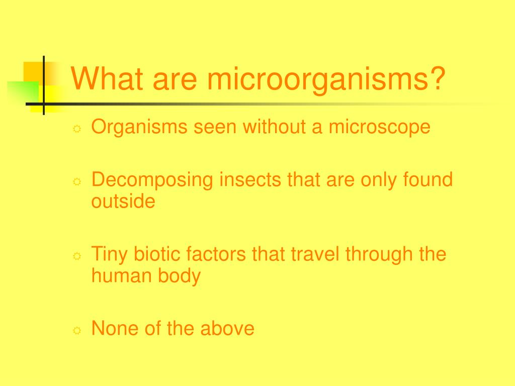 What are microorganisms?