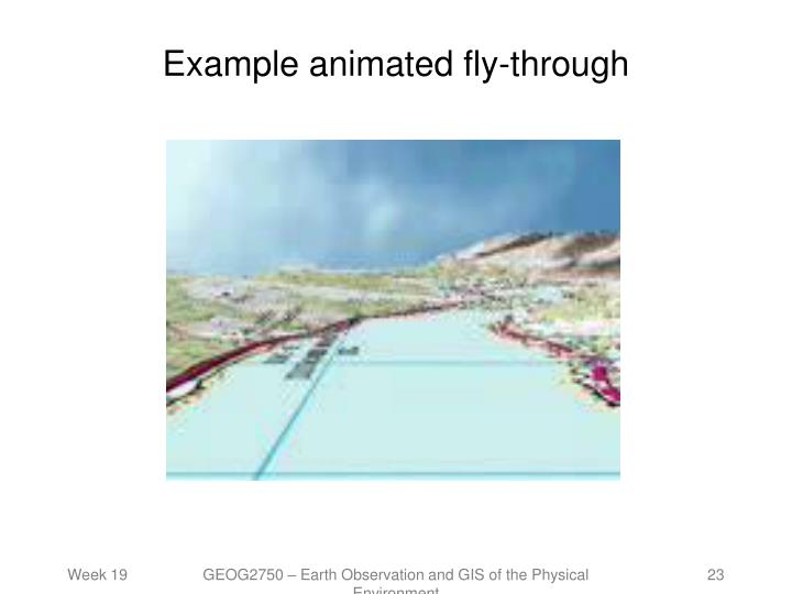 Example animated fly-through