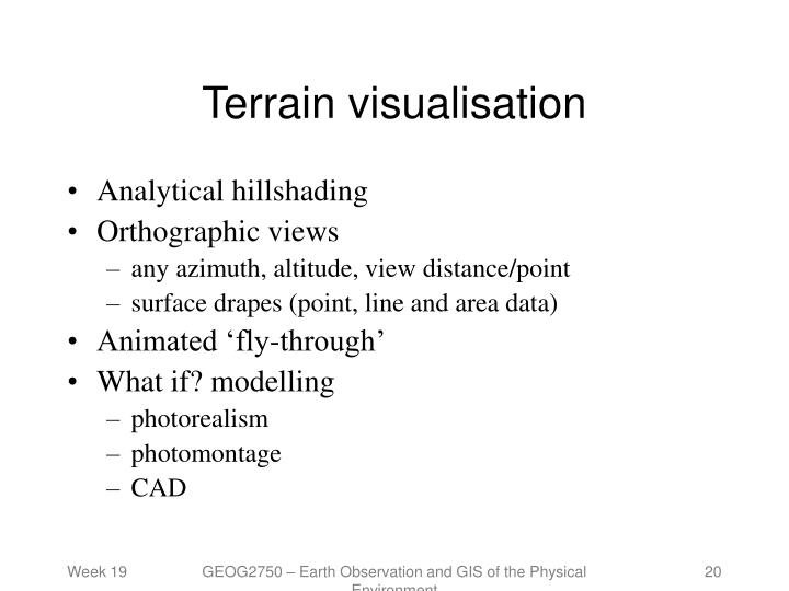 Terrain visualisation