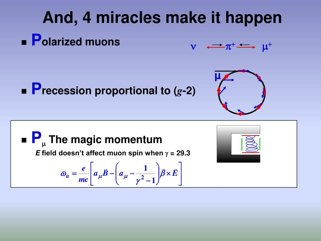 And, 4 miracles make it happen