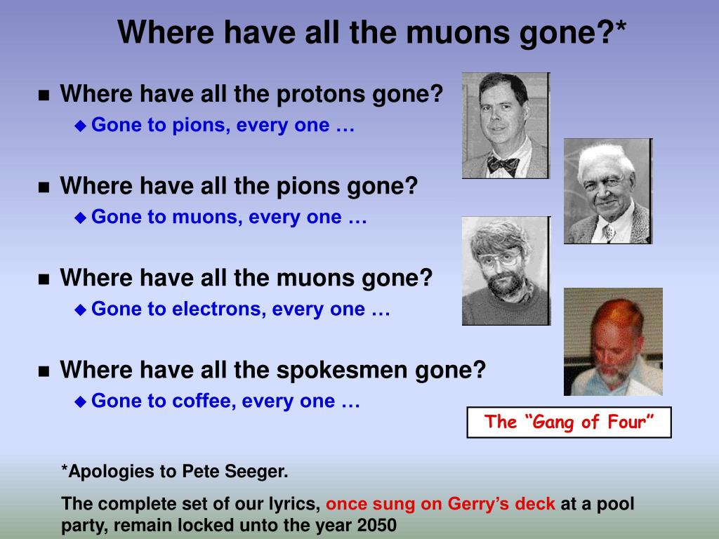 Where have all the muons gone?*