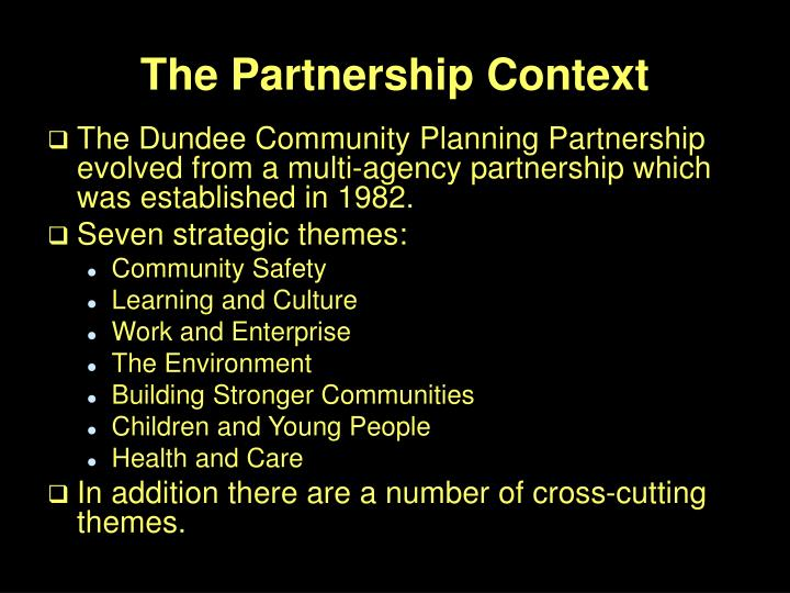 The Partnership Context