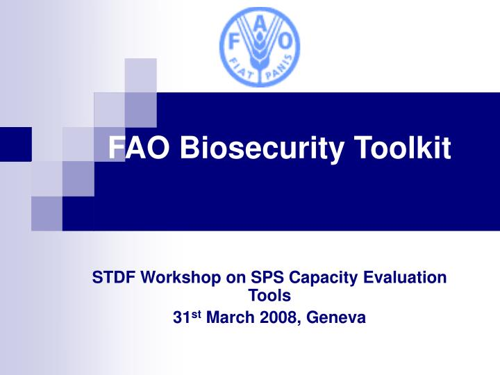 Fao biosecurity toolkit