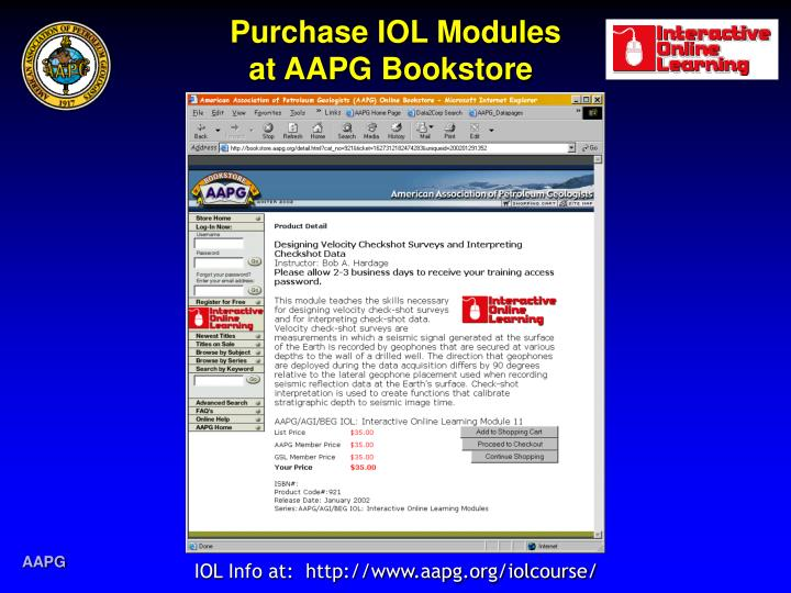 Purchase iol modules at aapg bookstore