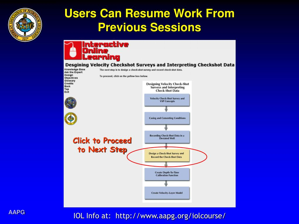 Users Can Resume Work From