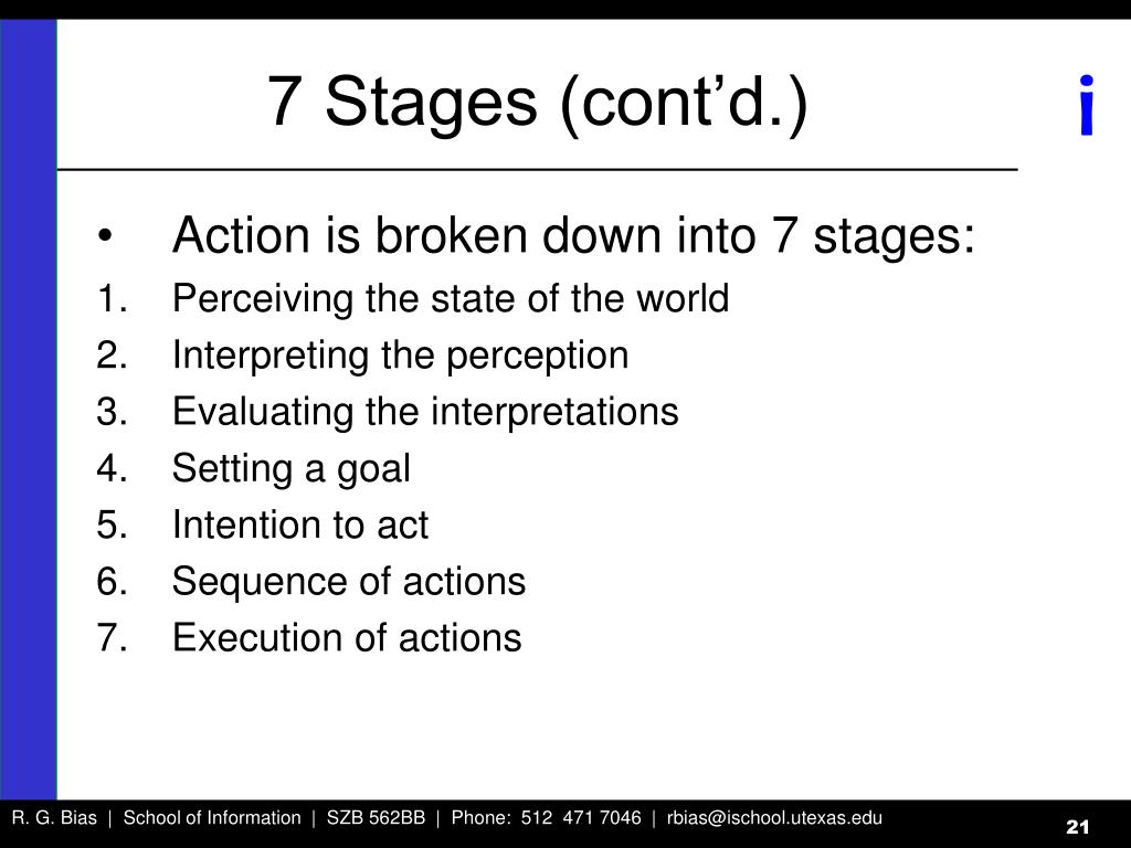 7 Stages (cont'd.)