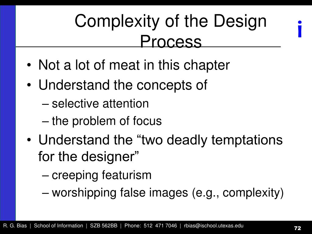 Complexity of the Design Process