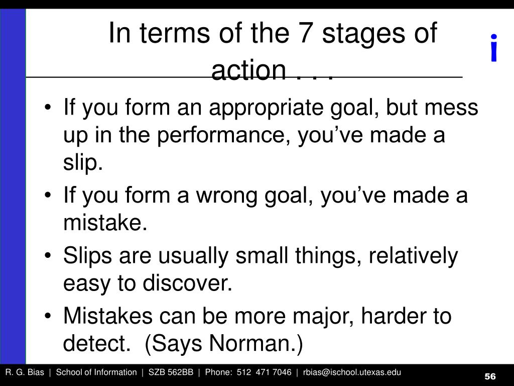 In terms of the 7 stages of action . . .