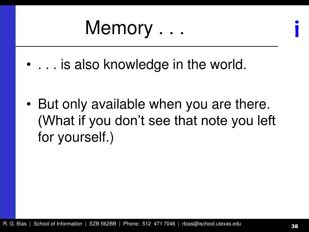Memory . . .