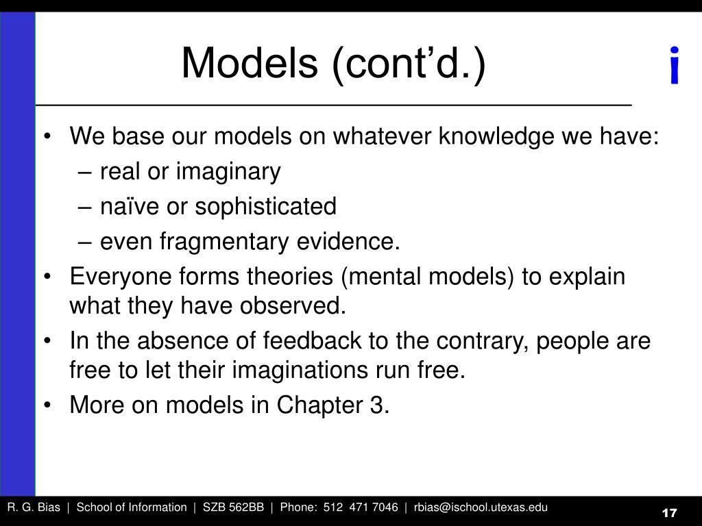 Models (cont'd.)