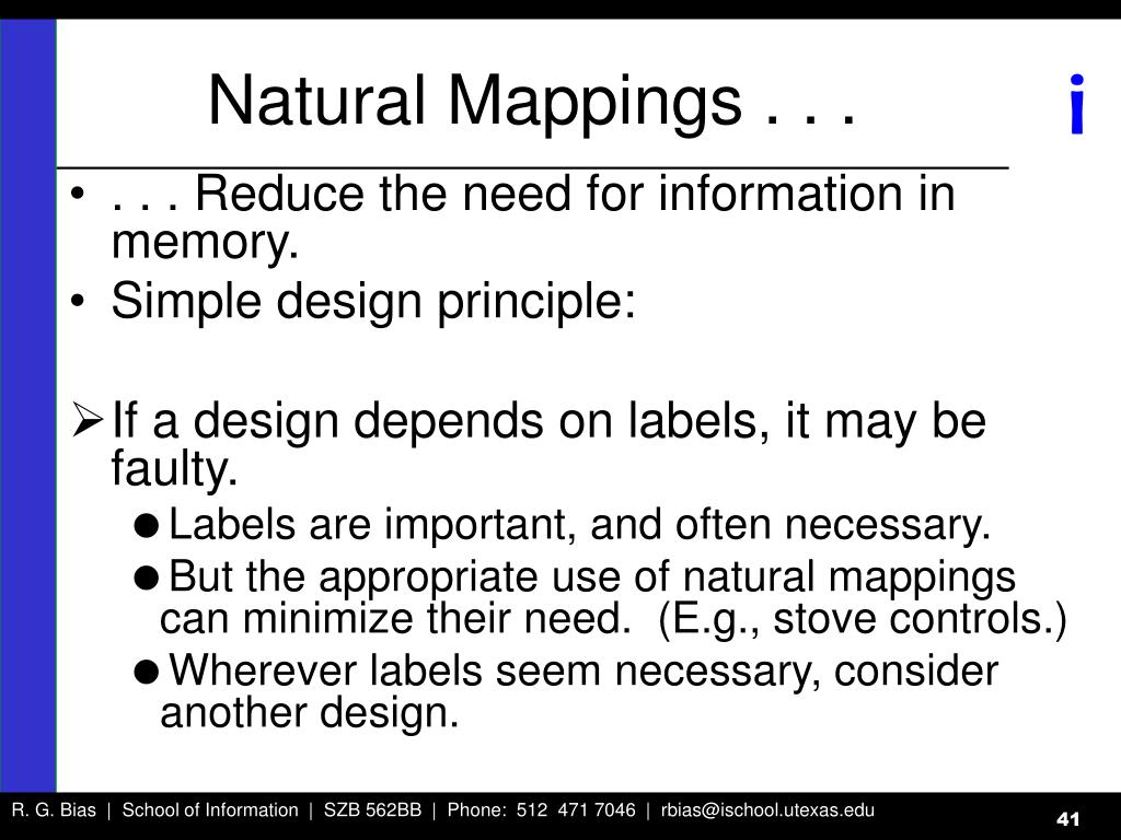 Natural Mappings . . .