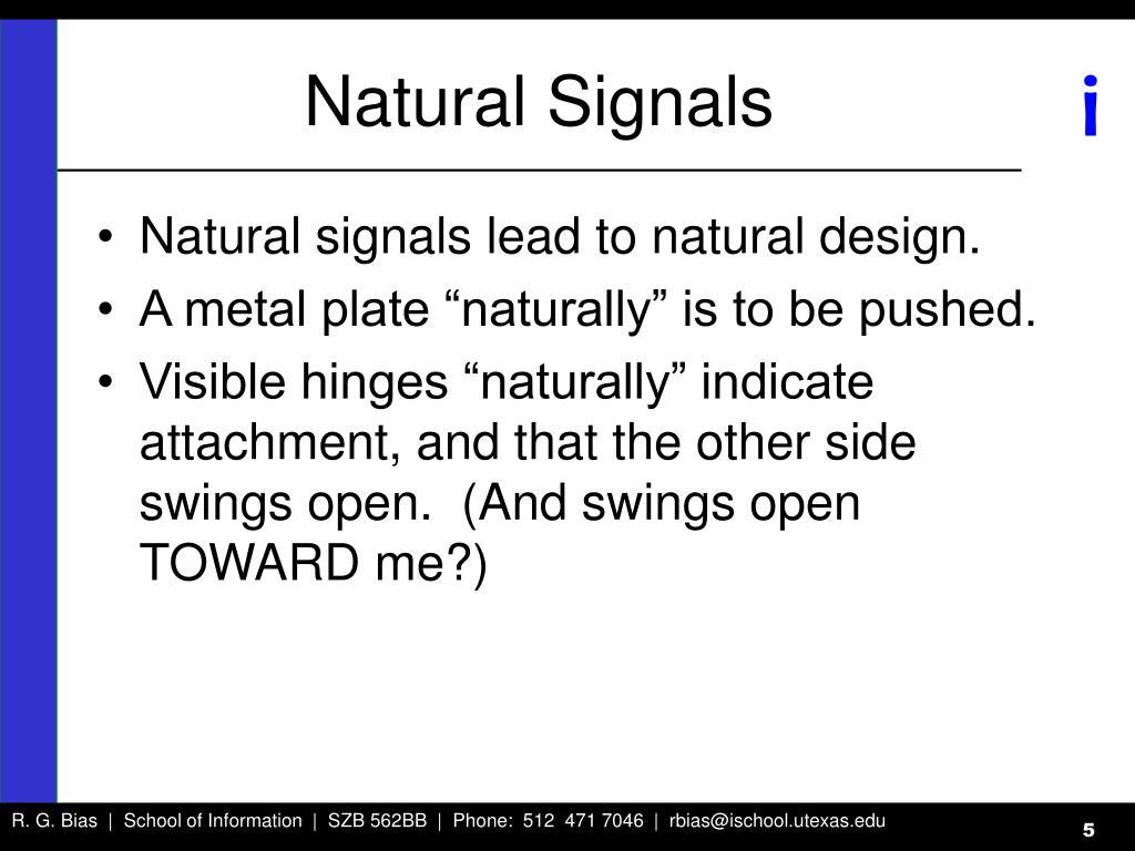 Natural Signals
