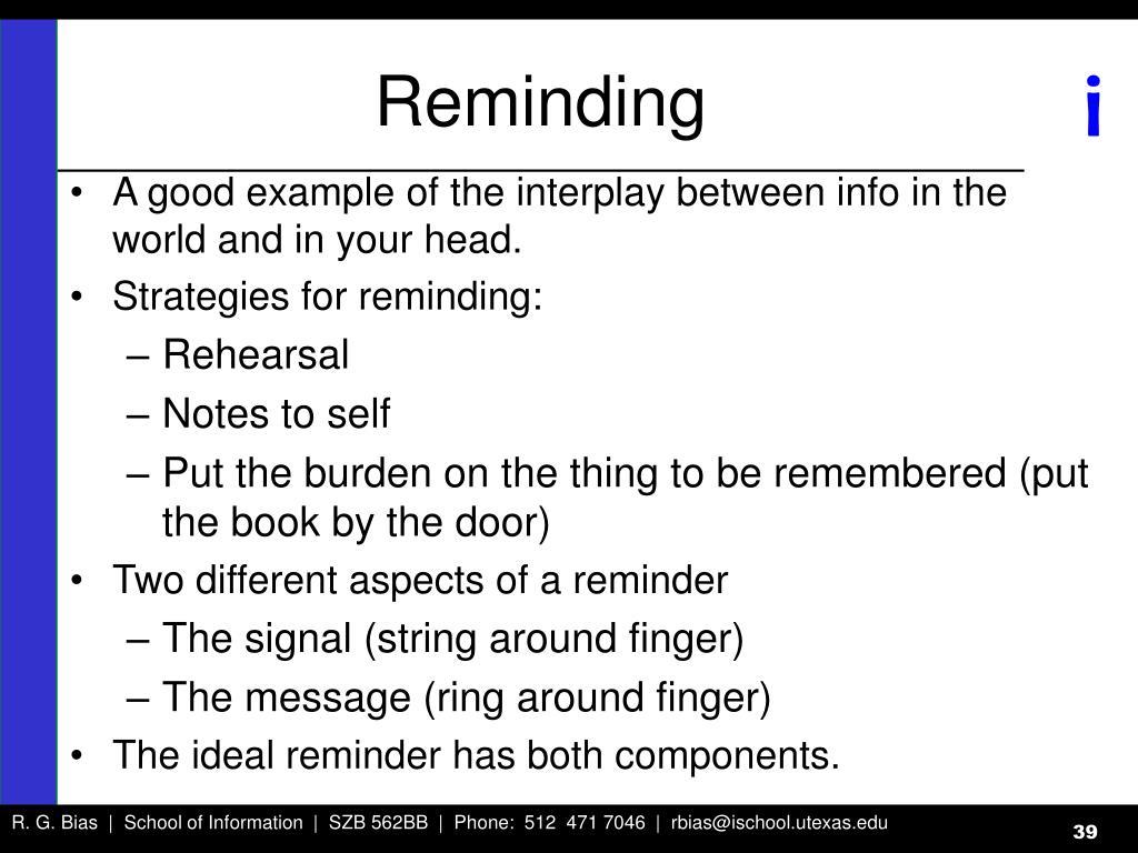 Reminding