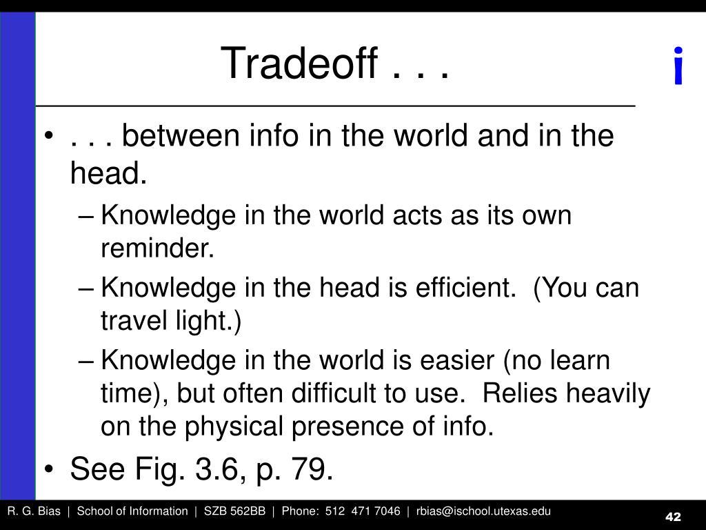 Tradeoff . . .