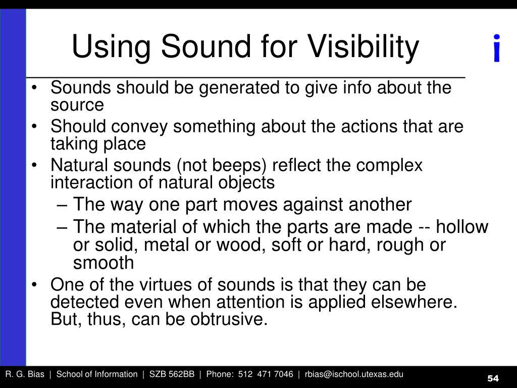 Using Sound for Visibility