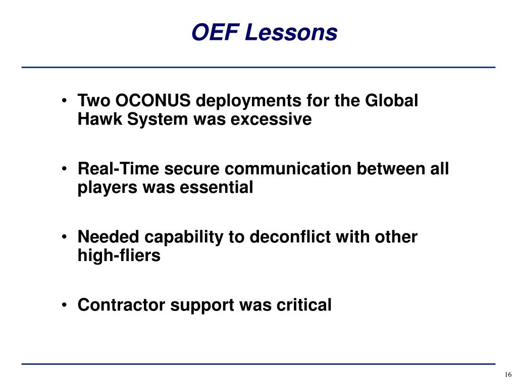 OEF Lessons