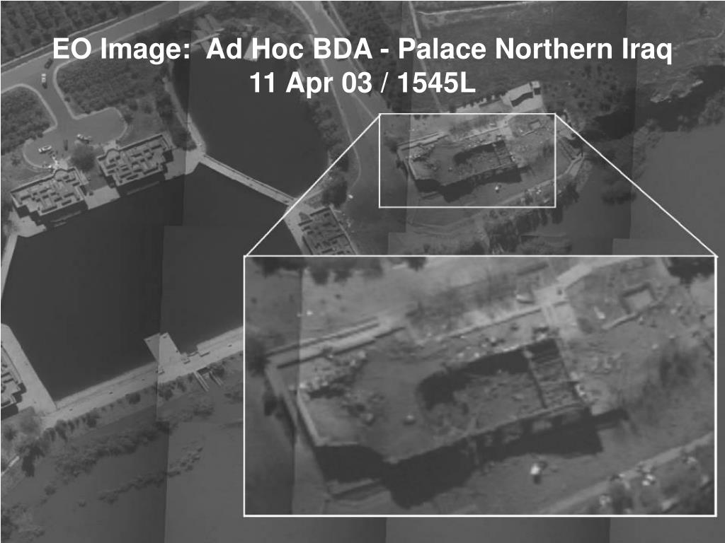 EO Image:  Ad Hoc BDA - Palace Northern Iraq 11 Apr 03 / 1545L