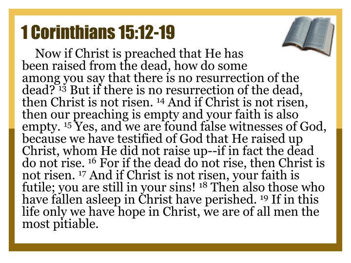 1 Corinthians 15:12-19