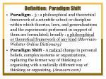 definition paradigm shift