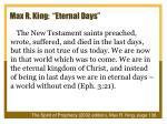max r king eternal days